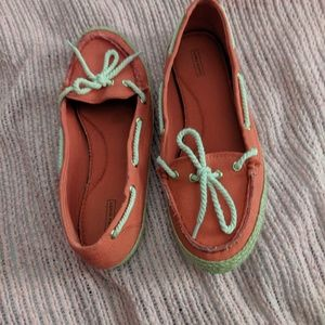 Ladies boating shoes, casual summer slip ons